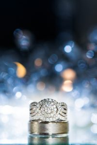 Ring shot with fire and ice in background