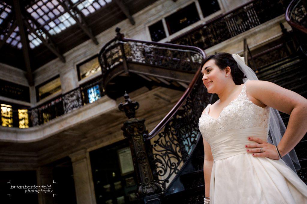 Bride at Ellicott Square Building