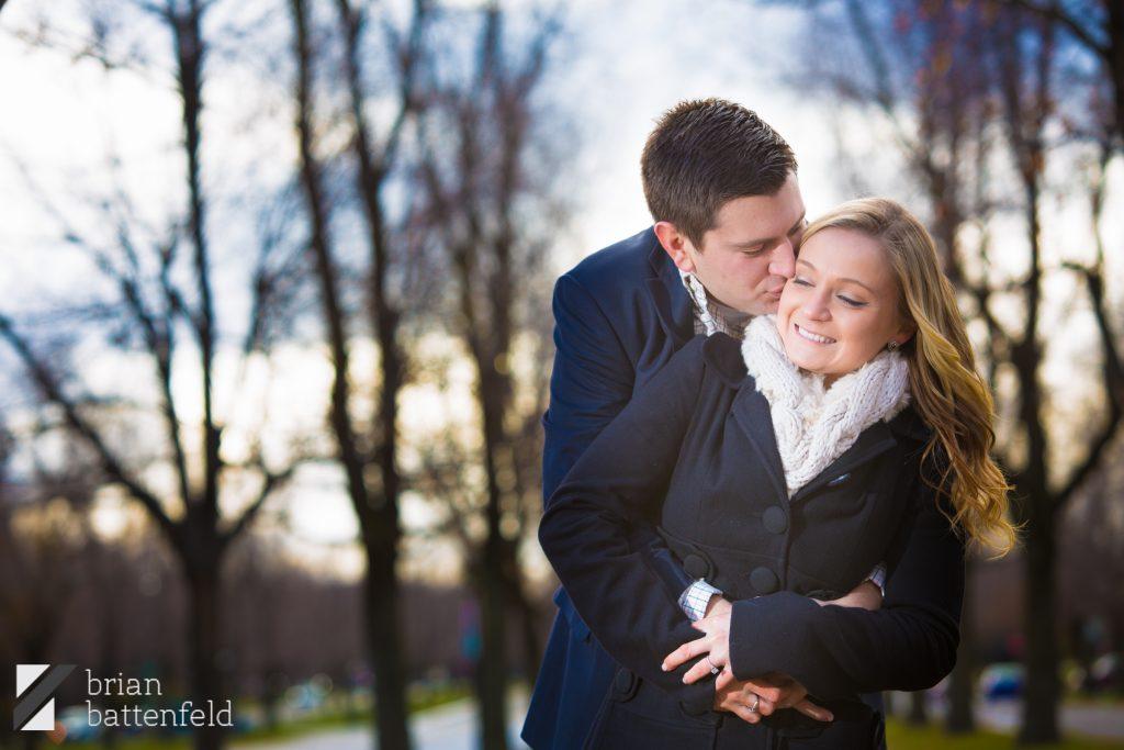 Buffalo Lincoln Ave - Couple in winter