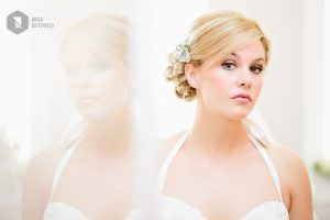 Bride reflection in mirror - Pearl at the Webb