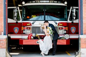 Bride and Groom Buffalo Fire Truck