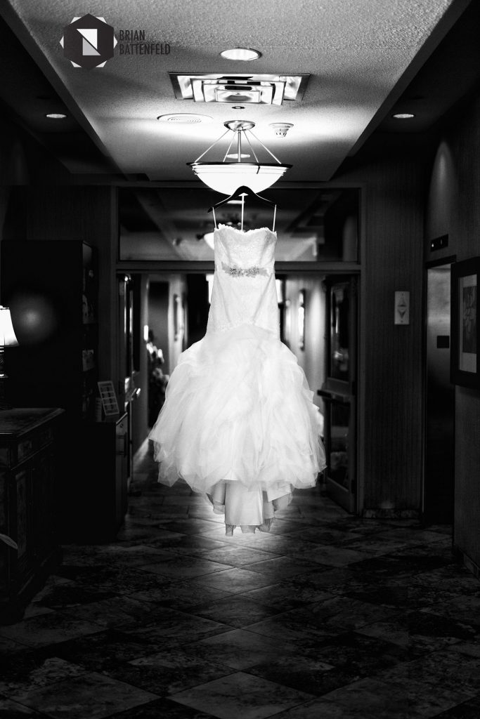 Wedding dress at the downtown Buffalo Mariott
