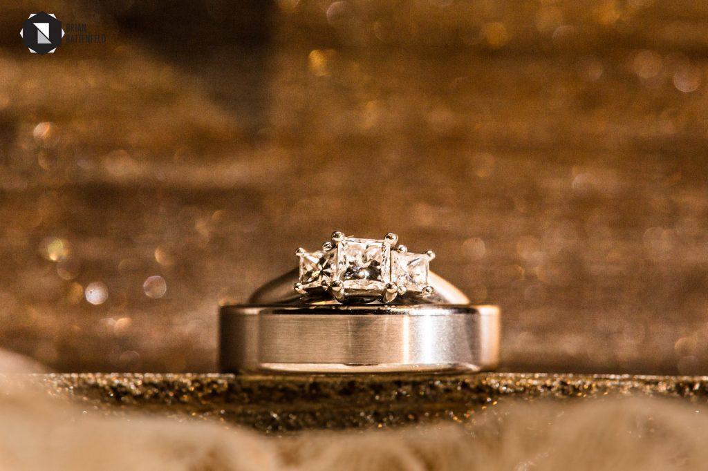 Wedding rings with bokeh